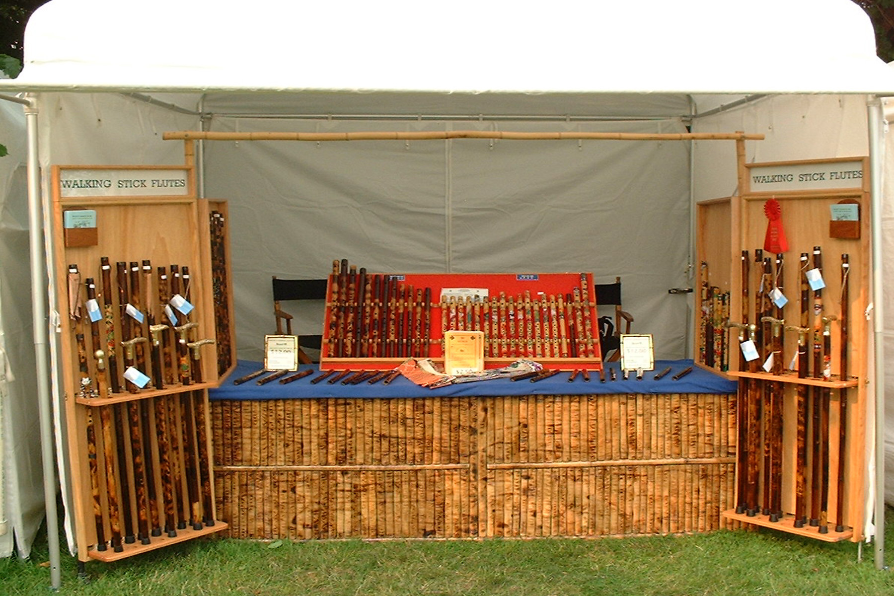 Bamboo Flute Craft Show Booth