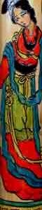 'Asian Lady' Bamboo Wood Flute.