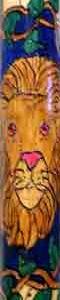 'Lion' Designed Wood Walking Cane.