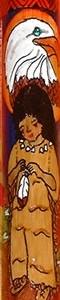 Bamboo Flute 'Native American' Inked Design.